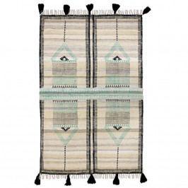 HK living Vlněný koberec Aztec Printed Wool 120 x 180 cm, multi barva, textil