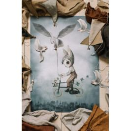 MRS. MIGHETTO Plakát Mr. Simon 50 x 70 cm, multi barva, papír