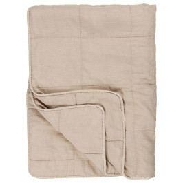 IB LAURSEN Bavlněný přehoz Fog 130x180 cm, béžová barva, textil
