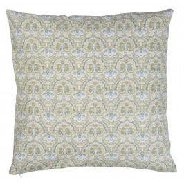 IB LAURSEN Povlak na polštář flower pattern olive, zelená barva, textil