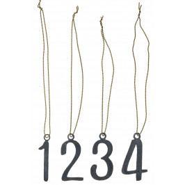IB LAURSEN Set adventních čísel 1-4, šedá barva, kov