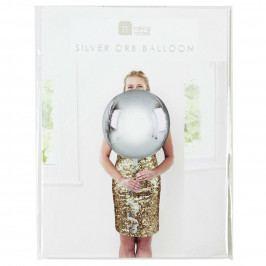 Talking Tables Nafukovací balón Silver ⌀ 38 cm, stříbrná barva, plast