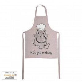 Bloomingville Dětská kuchyňská zástěra Mouse, růžová barva, textil