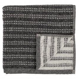 Bloomingville Froté ručník Black 140x70 cm, černá barva, textil