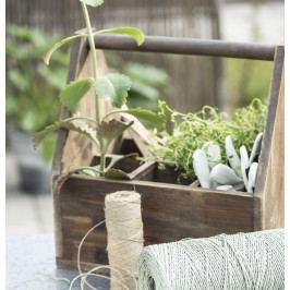 IB LAURSEN Zahradní dřevěný box Garden, hnědá barva, dřevo