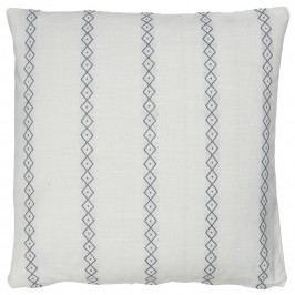 IB LAURSEN Povlak na polštář Window Weawing 50 x 50 cm, modrá barva, bílá barva, textil
