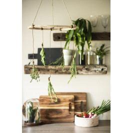 IB LAURSEN Bambusová závěsná dekorace Bamboo & Juta Hanger, béžová barva, hnědá barva, dřevo