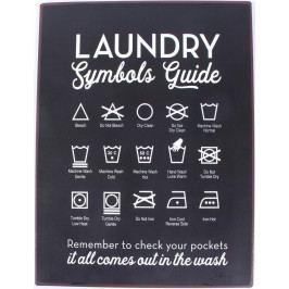 La finesse Plechová cedule Laundry Guide, modrá barva, kov