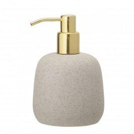 Bloomingville Dávkovač mýdla Nature & Gold Resin, béžová barva, zlatá barva, plast, pryskyřice
