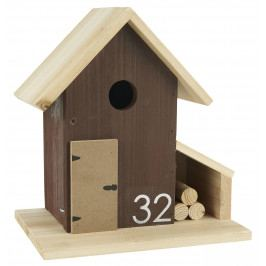 IB LAURSEN Ptačí budka Villa, hnědá barva, dřevo