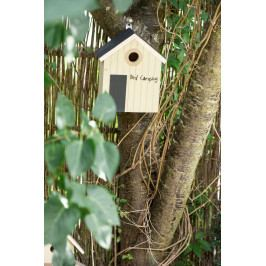 IB LAURSEN Ptačí budka Bird Camping, žlutá barva, dřevo