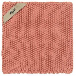 IB LAURSEN Pletená chňapka Mynte Desert Rose, růžová barva, textil