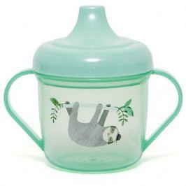 PETIT MONKEY Dětský hrníček s pítkem Sloth Green, zelená barva, plast