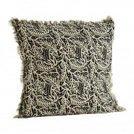 MADAM STOLTZ Povlak na polštář Off White Black 50x50cm, černá barva, bílá barva, krémová barva, textil