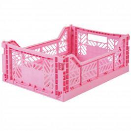 EEF lillemor Skládací přepravka Baby Pink - midi, růžová barva, plast