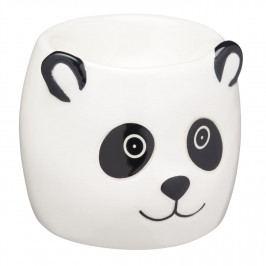 Kitchen Craft Stojánek na vajíčko Panda, černá barva, bílá barva, keramika