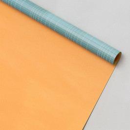 MONOGRAPH Oboustranný balicí papír Logarithm - 5 m, zelená barva, oranžová barva, papír