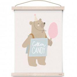 EEF lillemor Plakát do dětského pokojíčku Circus Cotton Candy A3, multi barva, papír