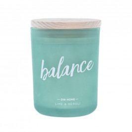 dw HOME Vonná svíčka Yoga - Balance 210gr, zelená barva, sklo, dřevo, vosk