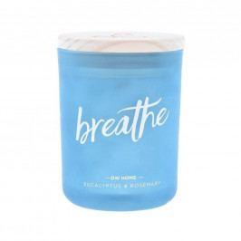 dw HOME Vonná svíčka Yoga - Breathe 210gr, modrá barva, sklo, dřevo, vosk