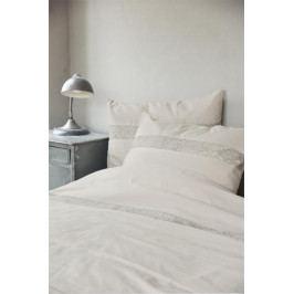 Jeanne d'Arc Living Bavlněné povlečení Insertions Lace Beige set 3 ks, béžová barva, krémová barva, textil