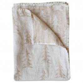 Fine Little Day Lněná osuška Gran Sand 139x90 cm, béžová barva, krémová barva, textil