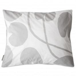 Fine Little Day Povlak na polštář Water Lilies Grey 50x60 cm, šedá barva, bílá barva, textil
