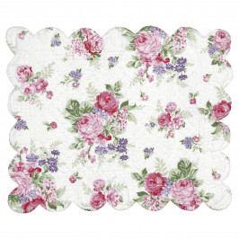 GREEN GATE Prošívané prostírání Rose White, růžová barva, textil