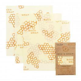 Bee's Wrap Ekologický potravinový ubrousek Medium-3ks, žlutá barva, textil