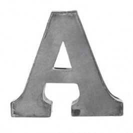 MADAM STOLTZ Plechové písmeno A, 6 cm, šedá barva, kov
