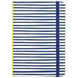 Busy B Pruhovaný zápisník Yellow & Blue Stripes A6, multi barva, papír