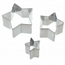 Kitchen Craft Sada vykrajovátek Star - 3 ks, stříbrná barva, kov