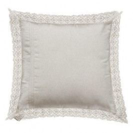 Chic Antique Polštář s krajkou White Lace, bílá barva, textil