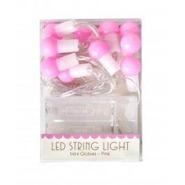 rice Světelný řetěz Ball Pink, růžová barva, plast