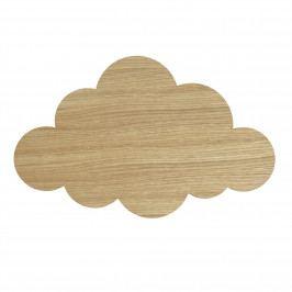 ferm LIVING Dětská lampička Oak Cloud Lamp, přírodní barva, dřevo, plast