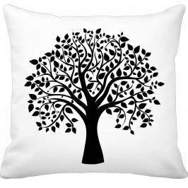 Krasilnikoff Bavlněný povlak na polštář Tree Of Life, černá barva, bílá barva, textil