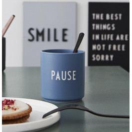 DESIGN LETTERS Porcelánový hrneček Pause 300ml, modrá barva, porcelán