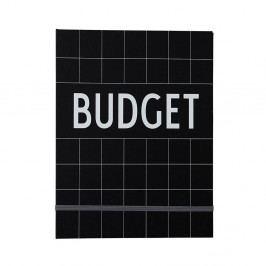 DESIGN LETTERS Zápisník na finance Budget, černá barva, papír