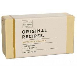 SCOTTISH FINE SOAPS Luxusní tuhé mýdlo Bílý čaj a vitamin E - 220g, přírodní barva