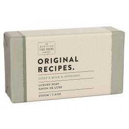 SCOTTISH FINE SOAPS Luxusní tuhé mýdlo Kozí mléko a avokádo - 220g, přírodní barva