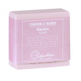 Lothantique Tuhé mýdlo Chemin de Roses 100 g, růžová barva, plast, papír