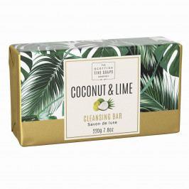 SCOTTISH FINE SOAPS Luxusní tuhé mýdlo Coconut & Lime - 220g, zelená barva