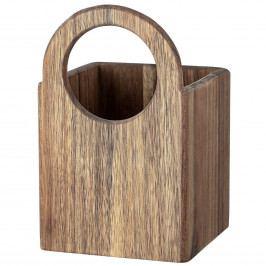 Bloomingville Úložný box do kuchyně Acacia Wood, hnědá barva, přírodní barva, dřevo