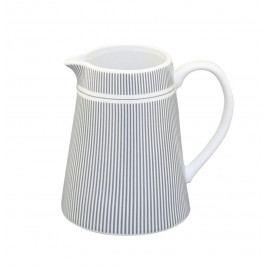 Krasilnikoff Porcelánový džbánek na mléko Grey Stripes, šedá barva, bílá barva, porcelán