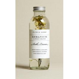 PLUM & ASHBY Koupelová esence Geranium & Sweet Orange 225ml, čirá barva, sklo
