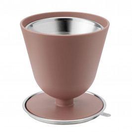 RIG-TIG Ruční překapávač kávy s kovovým filtrem Slow, červená barva, hnědá barva, kov, plast