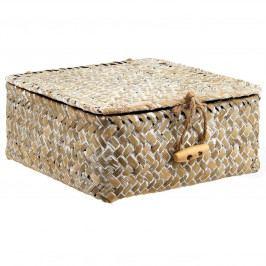 sass & belle Slaměný úložný box Boho Straw, béžová barva, proutí