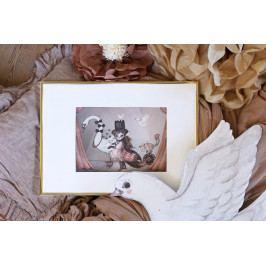 MRS. MIGHETTO Obrázek Miss Lucy Mini 18 x 24 cm, multi barva, papír