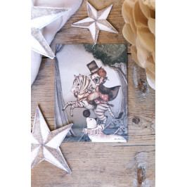 MRS. MIGHETTO Obrázek Mr. Frank Mini 18 x 24 cm, multi barva, papír