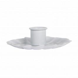IB LAURSEN Kovový svícínek Flower White/Mint, zelená barva, bílá barva, kov